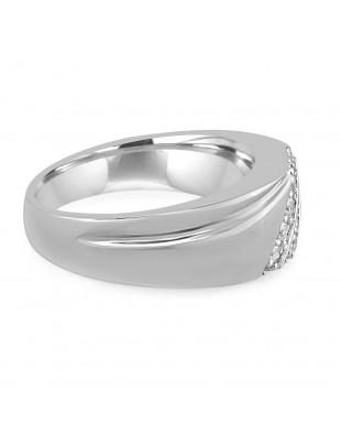 1/4ct 2 Row Diamond 10k White/Yellow Gold Anniversary Wedding Band Men's Ring