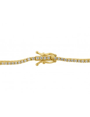 1.00ct Round Brilliant Diamond 14k Yellow Gold Ladies Tennis Bracelet 7 Inch