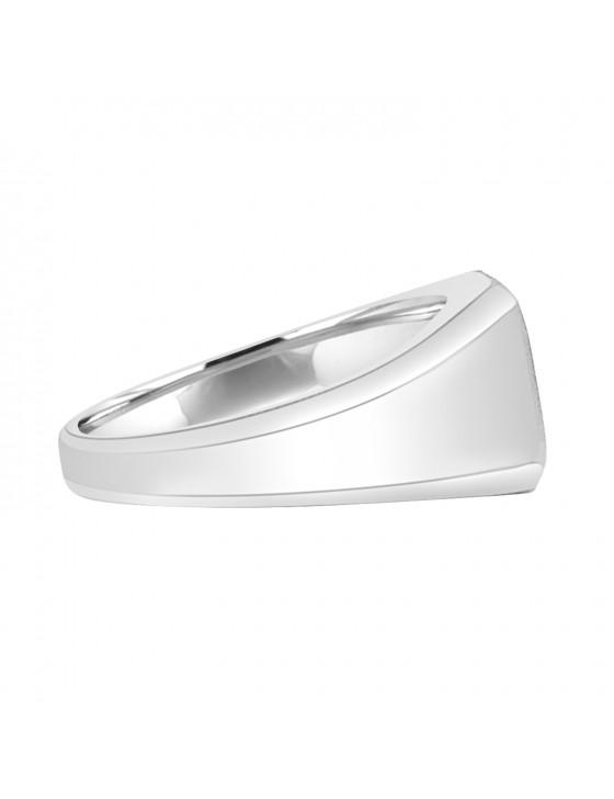 1/5ct Round Diamond  10K White Gold Men's  Ring Solitaire Ring