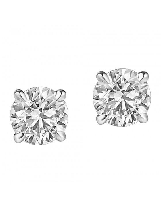 0.25ct Round Diamond Earrings 14k White Gold 1/4ct Studs