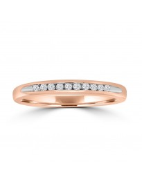 1/4ct Channel Lab Grown Diamond 10k Rose Gold Wedding Band Ring