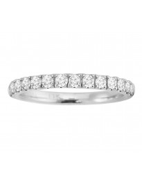 1/2ct Round Diamond 14k White Gold Half Eternity Wedding Band Ring