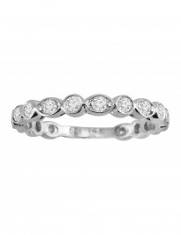 1/2ct Diamond 14k Gold Art Deco Marquise and Dot Wedding Band Ring
