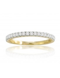 0.25ct Diamond 14k Yellow Solid Gold 1/4ct Half Eternity Wedding Band Ring