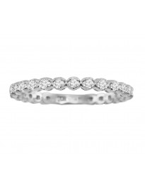 0.50ct Round Cut Diamond 14k White Gold 1/2ct Eternity Wedding Band Ring