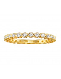 0.50ct Round Cut Diamond 14k Yellow Gold 1/2ct Eternity Wedding Band Ring