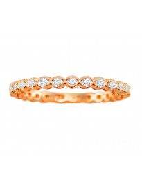 1/2ct Round Cut Diamond 14k Rose Gold 1/2ct Eternity Wedding Band Ring