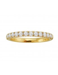 1/2ct Round Diamond 14k Yellow Gold Half Eternity Wedding Band Ring