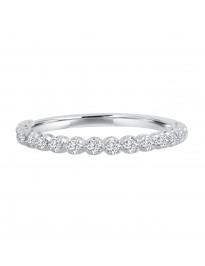 0.25ct Round Diamond 14k White Gold 1/4ct Half Eternity Wedding Band Ring