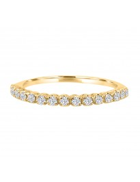 0.25ct Round Diamond 14k YellowGold 1/4ct Half Eternity Wedding Band Ring