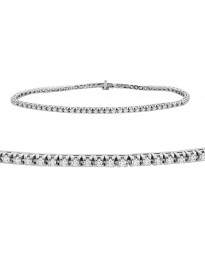 1.00ct Genuine Round Diamond 14k White Gold Ladies Tennis Bracelet 7 Inch