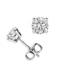 0.25ct Round Diamond Earrings 14k White Gold 1/4ct Studs 100% Natural