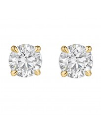 0.20ct Round Diamond Earrings 14k Yellow Gold 1/5ct Studs 100% Natural