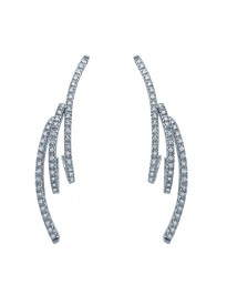 Piero Milano 0.65Ct Pave G/VS Diamond 18K White Gold Drop Earrings