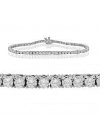 4.00ct Natural Round Diamond 14k White Gold Ladies Tennis Bracelet 7 Inch