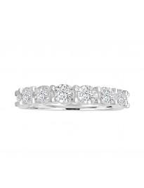 1/2ct Miracle Plate Diamond 10k White Gold Wedding Band Anniversary Ring
