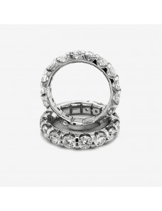 2 3/4 ct Round Diamond 14k White Gold almost eternity wedding Band Ring