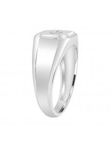 1/5ct Round Diamond  10K White Gold Men's  Ring Solitaire Ring