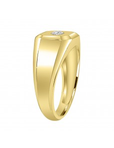 1/5ct Round Diamond  10K Yellow Gold Men's  Ring Solitaire Ring